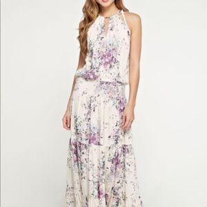 Lovestitch Cream and Lavender Maxi Dress Small
